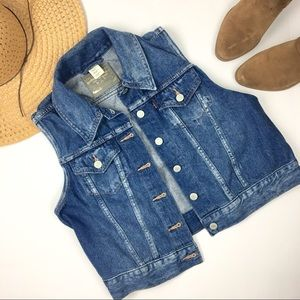 Levi's Medium Wash Denim Vest XS